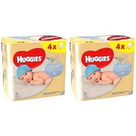 HUGGIES Pure Quatro Pack 2× (4× 56 ks)